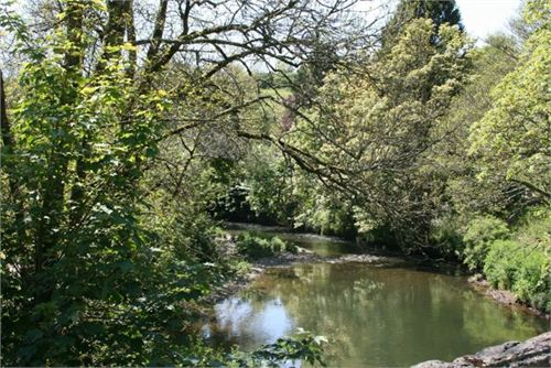 A view of the river Lynher from Notter Bridge in Cornwall