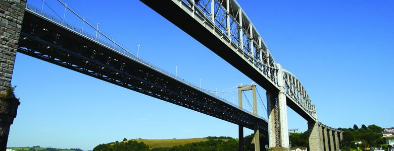 Tamar Bridge on Devon and Cornwall boarder