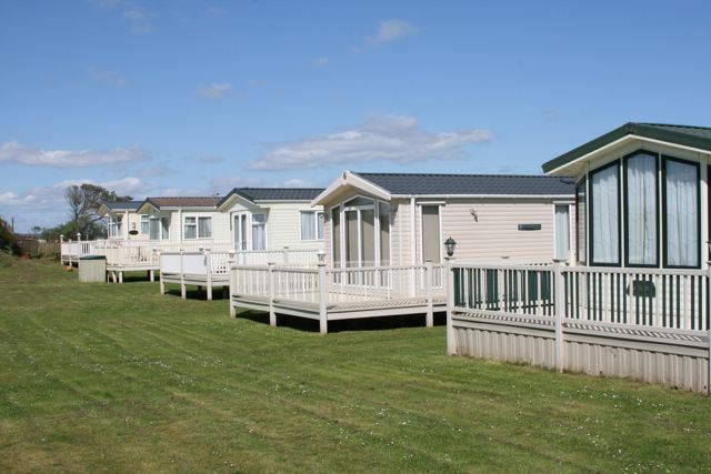Beautiful Static Caravans UPVc Decking  PVS Holdings Norfolk